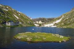 Schönes St. Bernard Pass, die Schweiz Lizenzfreies Stockfoto