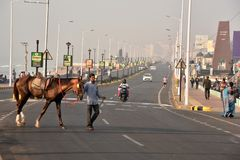 Schönes Stadtbild bei Visakhapatnam Stockfoto
