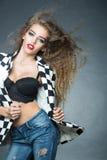 Schönes stilvolles Mädchen Lizenzfreie Stockfotos