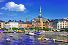 Schönes Stockholm, Sweeden stockfotos