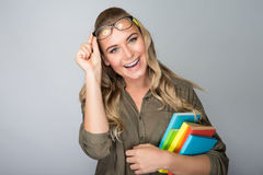 Schönes Studentenmädchen Lizenzfreie Stockfotografie
