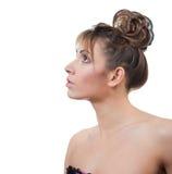 Schönes Studioportrait der jungen Frauen Stockfotos