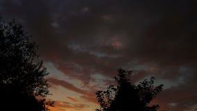 Schönes Sturm-Wolkenc$zeit-versehen stock video
