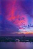 Schönes sunglow Lizenzfreies Stockfoto
