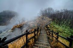 Schönes Tal von Jigokudani oder von ` Höllen-Tal ` lizenzfreies stockfoto