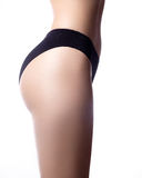 Schönes Teil des weiblichen dünnen Körpers Schönheitsteil des weiblichen Körpers Die Form der Frau mit sauberer Haut Stockbilder