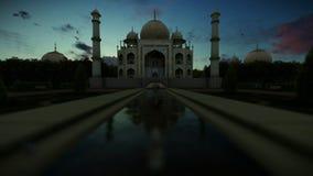 Schönes timelapse Taj Mahals surise, Kamerafliege stock abbildung