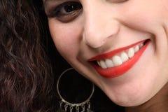 Schönes toothy Lächeln Stockbild