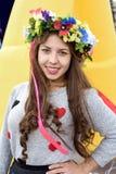 Schönes ukrainisches Mädchen an einer Partei Lizenzfreies Stockfoto