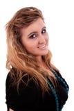 Schönes und großes Lächeln der jungen Frau Stockfotografie