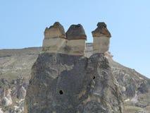 Schönes und mysteriöses Cappadocia, die Türkei Lizenzfreies Stockbild