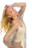 Schönes und reizvolles blondes Mädchen Lizenzfreie Stockfotografie