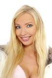 Schönes und reizvolles blondes Mädchen Lizenzfreies Stockfoto