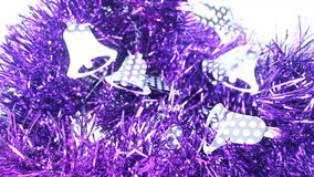 Schönes violettes verziertes Band für Feier stock footage