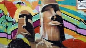Schönes Wandgemälde, Graffiti Stockfotos