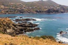 Schönes Wasser und Felsen nähern sich La Bufadora Lizenzfreies Stockbild