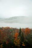 Schönes weißes Mountians im Herbst Stockfotografie