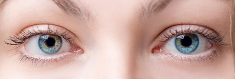 Schönes weibliches Auge zwei mit Linse Lizenzfreies Stockbild