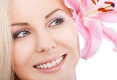 Schönes weibliches Gesicht Stockbilder