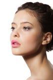 Schönes weibliches Gesicht Stockfotografie