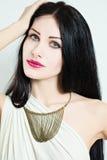 Schönes weibliches Gesicht Eleganz-Mode-Frau Stockbild