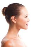 Schönes weibliches Profil Stockfoto