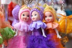 Schönes weibliches Spielzeug keychain Lizenzfreies Stockfoto