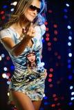 Schönes weibliches Tanzen Stockfotografie