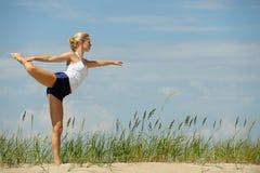 Schönes weibliches Training Lizenzfreies Stockfoto