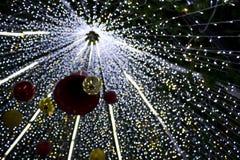 Schönes Weihnachtendefocused bokeh Licht Lizenzfreies Stockbild