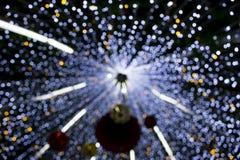 Schönes Weihnachtendefocused bokeh Licht Stockbilder