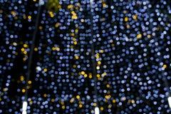 Schönes Weihnachtendefocused bokeh Licht Lizenzfreie Stockfotografie