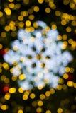 Schönes Weihnachtendefocused bokeh Licht Stockfotografie