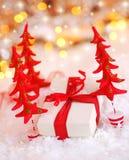 Schönes Weihnachtsgeschenk Lizenzfreies Stockfoto