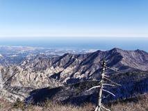 Schönes wiev zu den Bergen Seoraksan Stockfoto