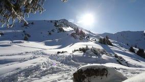 Schönes Winterzeitversehen stock video