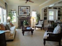 innenraum eines wohnzimmers mit kamin im luxuslandhaus stockfoto bild 45369248. Black Bedroom Furniture Sets. Home Design Ideas