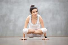 Schönes Yoga: Skala-Lage Stockfotografie