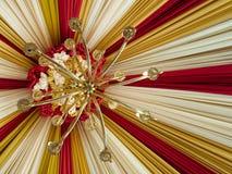Schönes Zelt mit antiker Lampe Lizenzfreie Stockfotos