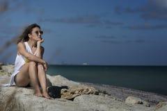Schönheit auf dem Strand Stockfoto