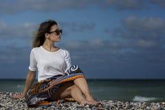 Schönheit auf dem Strand Stockfotografie
