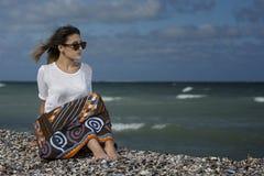 Schönheit auf dem Strand Lizenzfreie Stockfotografie