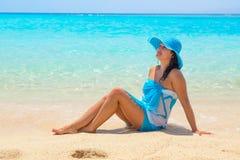 Schönheit auf dem Strand von Mahmya-Insel Stockfotos