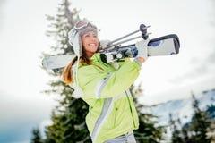 Schönheit auf Winter-Ferien Lizenzfreie Stockfotografie