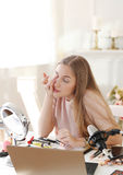 Schönheit Blogger Lizenzfreie Stockbilder