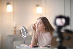 Schönheit Blogger Stockfotografie