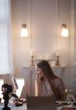 Schönheit Blogger Lizenzfreies Stockbild