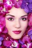 Schönheit in den Blumen Lizenzfreie Stockbilder