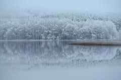 Schönheit in der Natur Snowy-Reflexionen Stockfoto