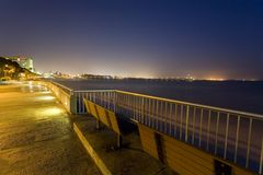Schönheit der Ozean-Nacht Lizenzfreies Stockbild